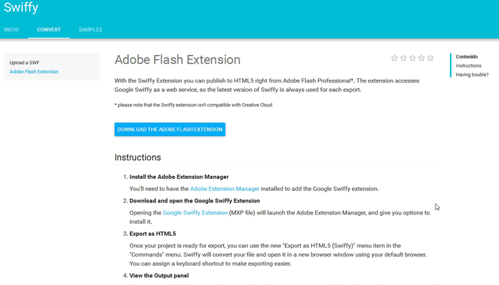 adobe-flash-extension